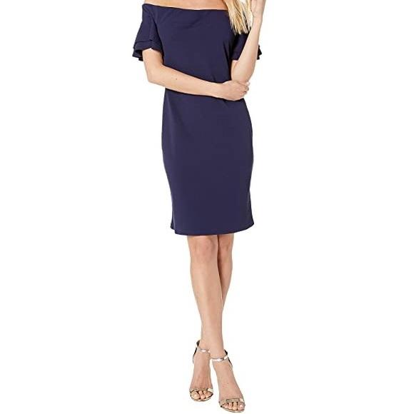 🆕 BEBE Off Shoulder Ruffle Sleeve Dress